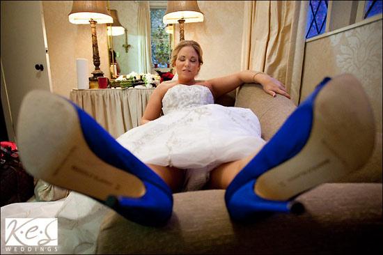 Manolo Blahnik Blue Swan Shoes