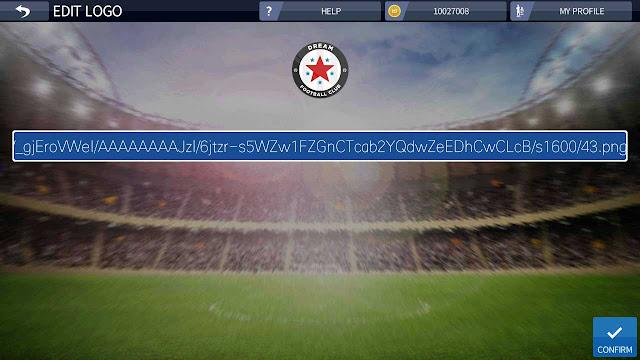cara import logo dream league soccer