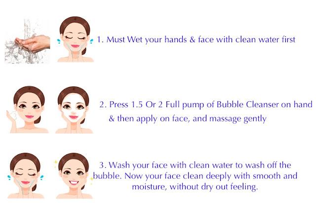 Muka Lebih Lembap dan Bersih Selepas Menggunakan ALOE AC Clean Bubble Cleanser