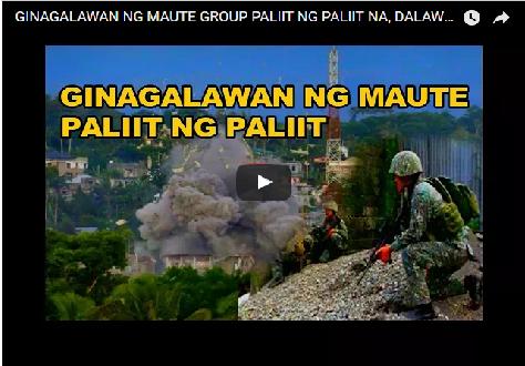 2swIFot GOOD NEWS:GINAGALAWAN NG MAUTE GROUP PALIIT NG PALIIT NA, DALAWANG BRGY NABAWI NA!WATCH!