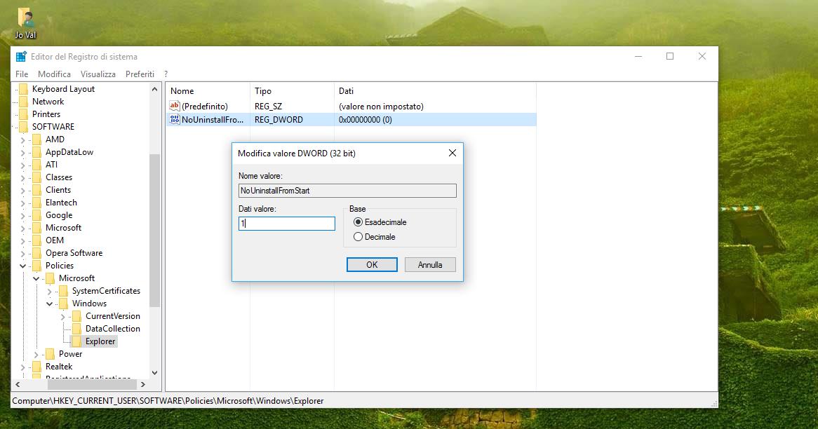Nuovo-Valore-DWORD-32-bit