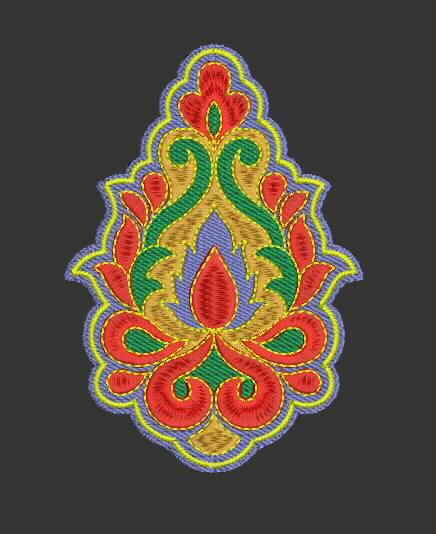 Free embroidery designs embroidery design patch style for Design online