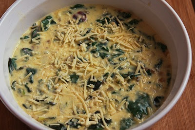 Swiss Chard and Goat Cheese Custard Bake found on KalynsKitchen.com