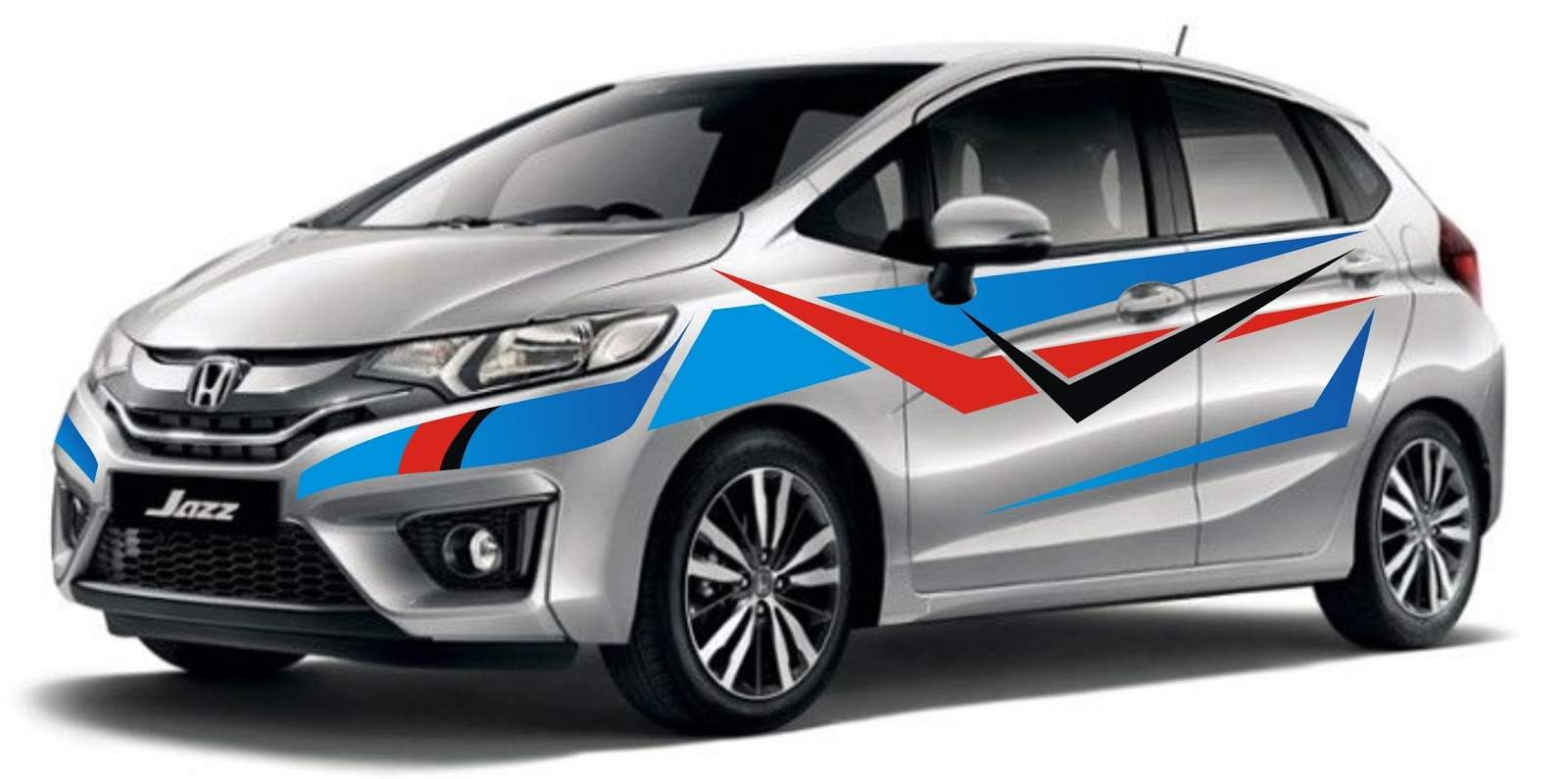 New design stickers honda jazz themed tribal taken inspiration from racing cars whose body sporty like the honda jazz in addition to the body very slim so