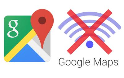 Đùng google maps khi không có mạng