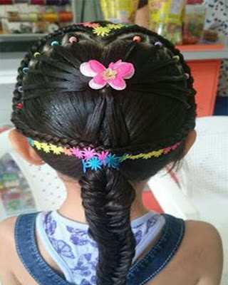 peinados para niñas casuales con trenzas