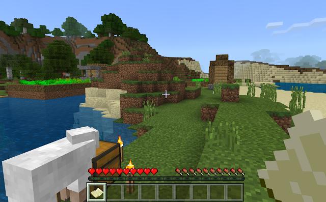 Minecraft oyun ekranı