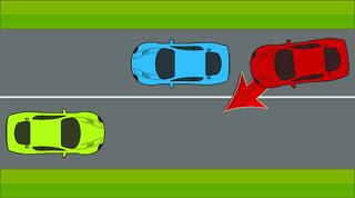 وإذا كانت سيارة تريد اجتيازي أو وجود مركبة قادمة من الاتجاه المعاكس.
