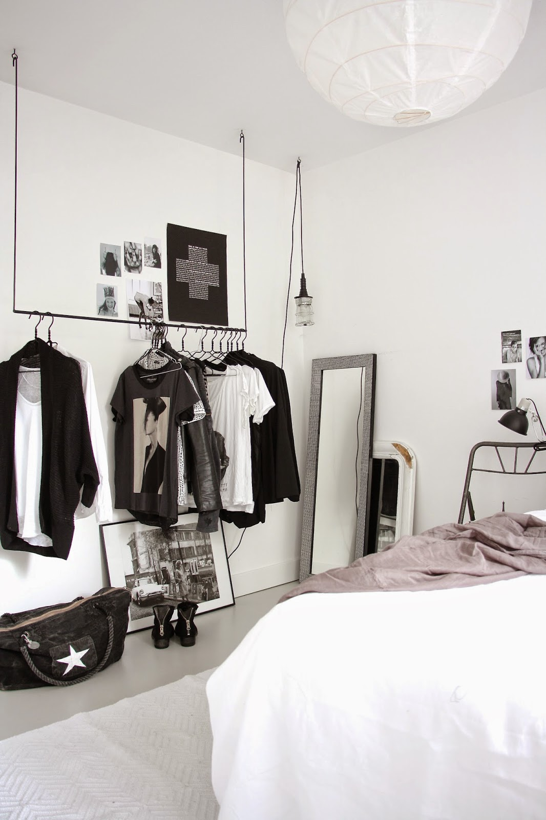 my scandinavian home the fabulous black and white home of. Black Bedroom Furniture Sets. Home Design Ideas