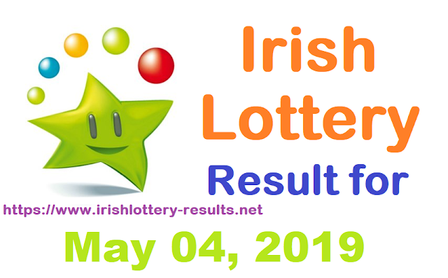 Irish Lottery Result for Saturday, May 04, 2019