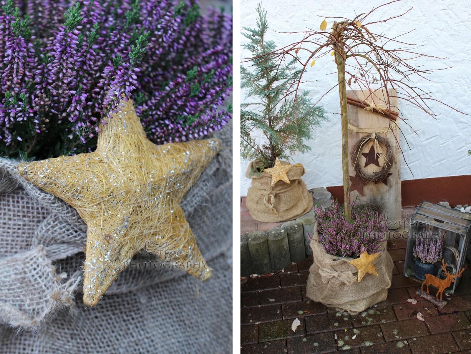 weihnachtliche dekoration vor der haust r silentforce garden. Black Bedroom Furniture Sets. Home Design Ideas