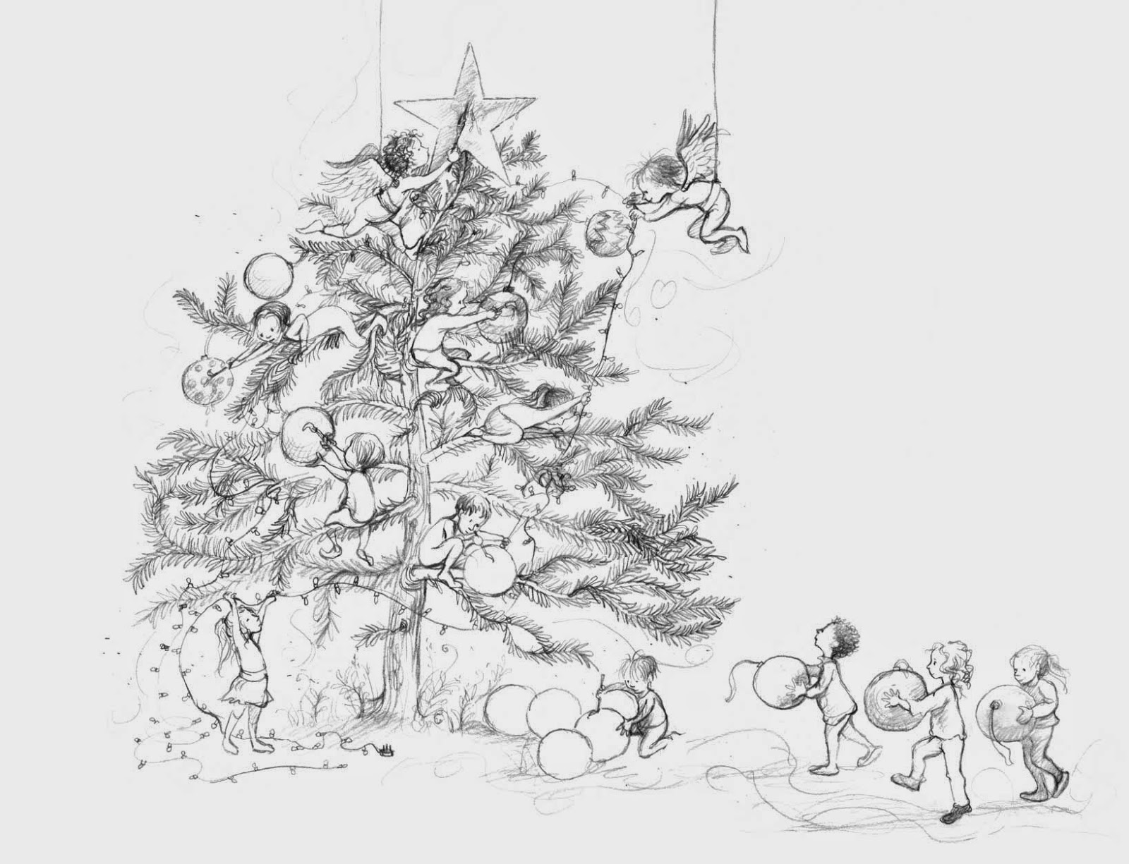 Marjorie's Sketch Blog: We Wish You And Yours A Merry