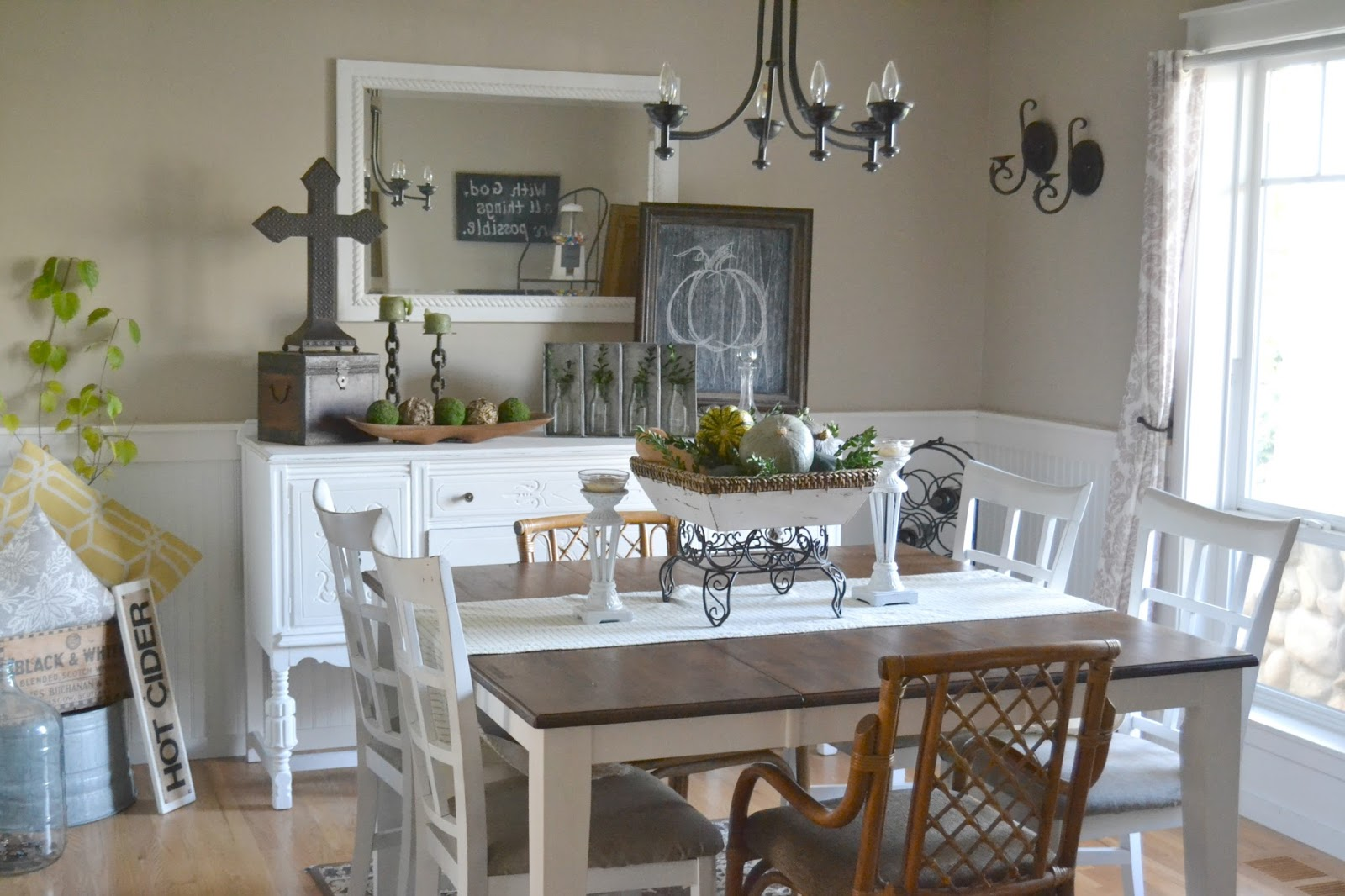 Inside Heathers Home How To Give Your Dining Room A Farmhouse - How long is a dining room table