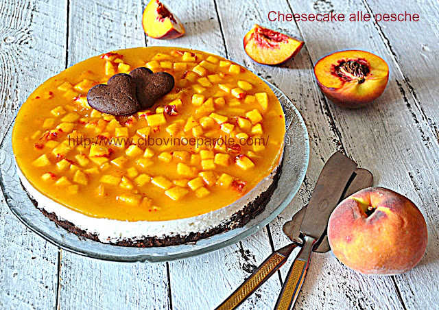 Cheesecake alle pesche-Peach cheesecake