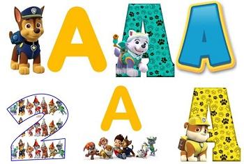 Abecedarios de Paw Patrol