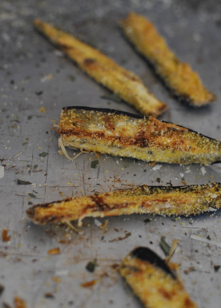 gluten free. vegan Eggplant Fries