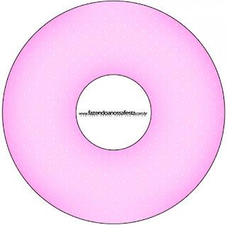 Etiquetas de Corazones Rosa para CD's.