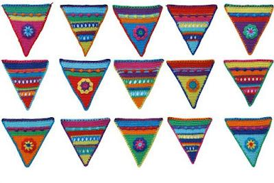 kleurgebruik gehaakte vlaggenlijn