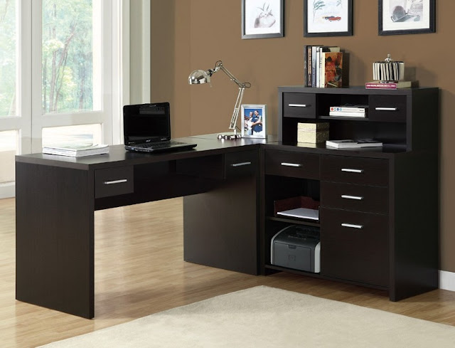 best buy modern dark home office desk timber for sale
