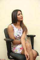 Nishi Ganda stunning cute in Flower Print short dress at Tick Tack Movie Press Meet March 2017 130.JPG