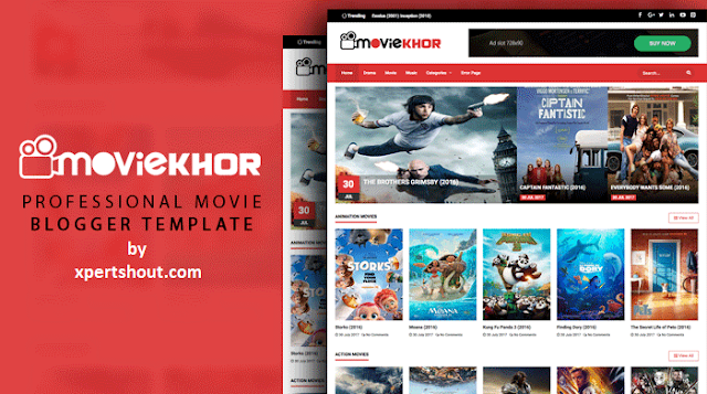 MovieKhor Responsive Movie Blogger Template Free Download