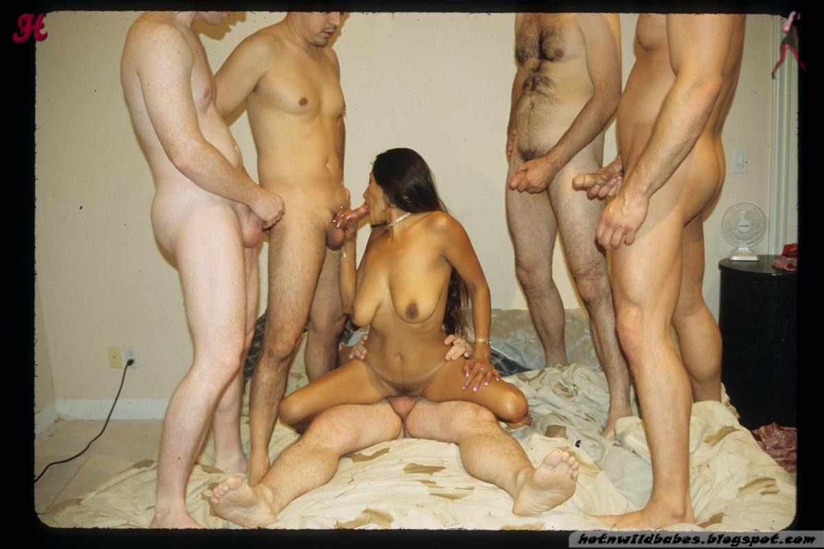 Chinese wife fucked in bondage gangbang sex action