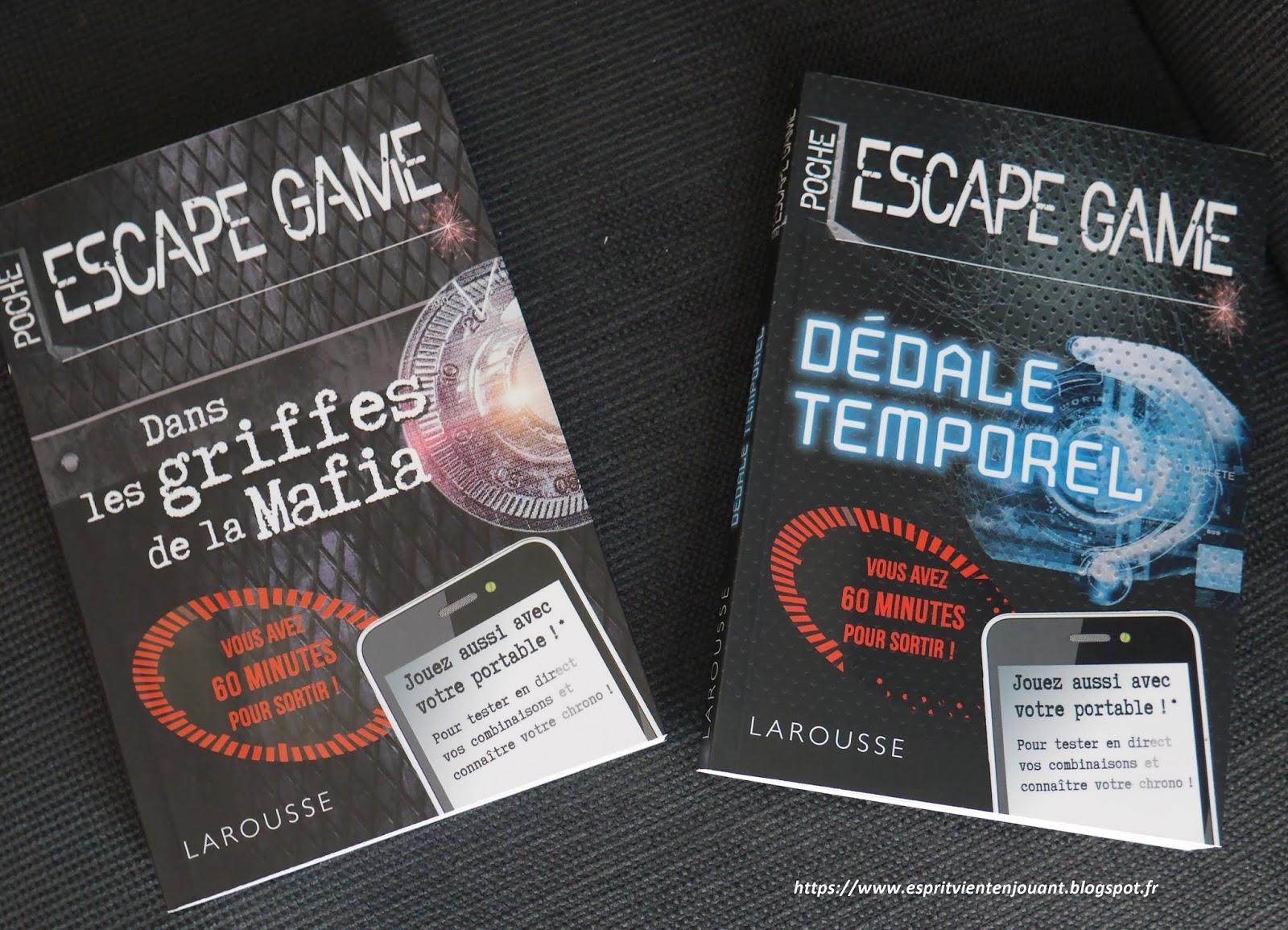 L Esprit Vient En Jouant Jeu Livre Escape Game By Larousse