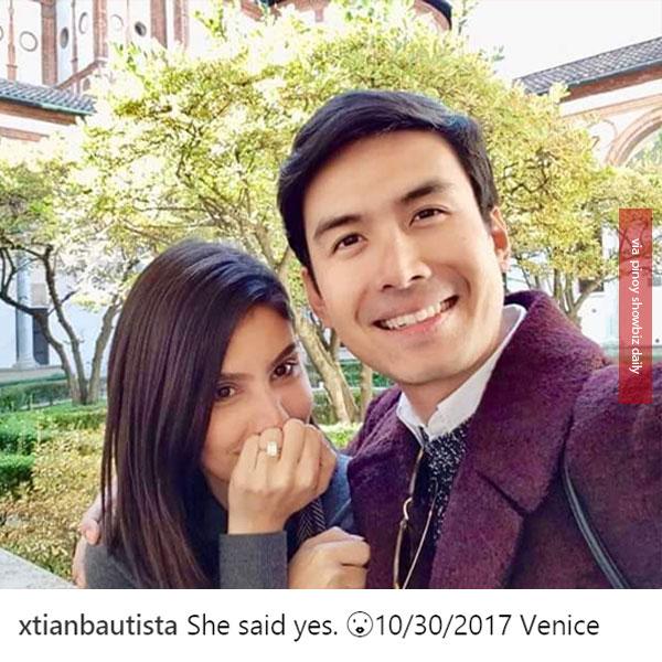 Christian Bautista and girlfriend Kat Ramnani are engaged