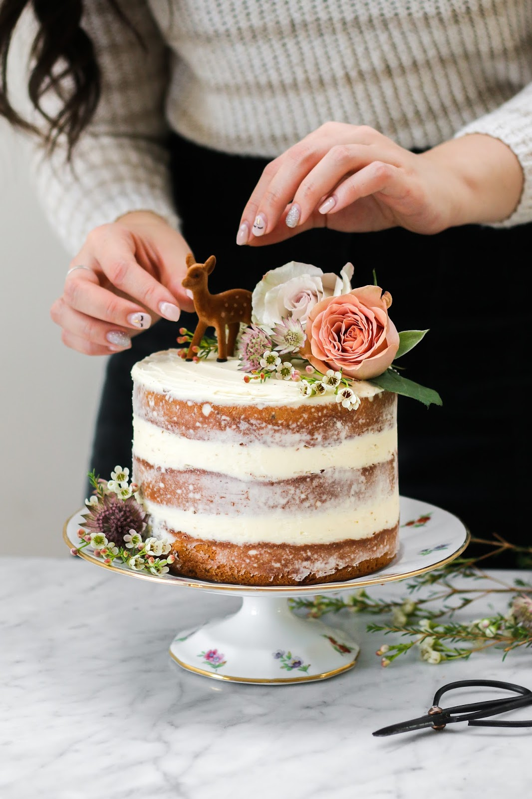 Jasmine Cake With Honey Swiss Meringue Buttercream