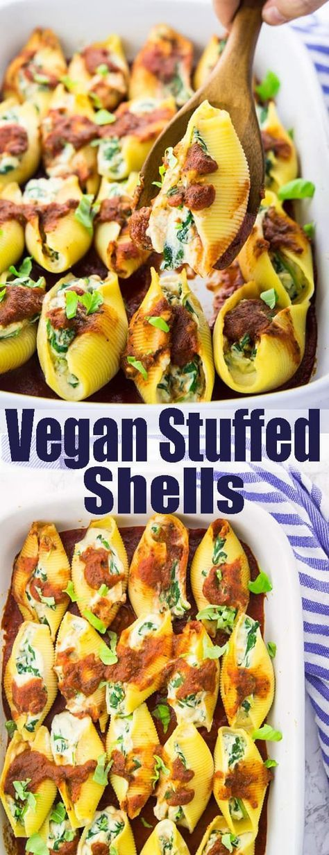 Vegân Stuffed Shells with Spinâch