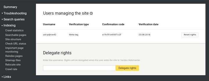 Verifikasi Situs Web Blogspot ke Yandex Lewat Ponsel