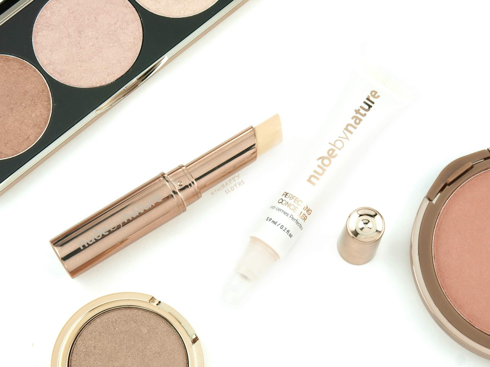 "Nude by Nature | Flawless Concealer & Perfecting Concealer in ""02 Porcelain Beige"": Review and Swatches"