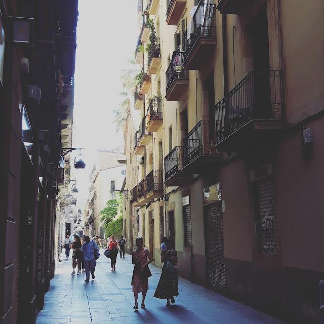 Spaziergang durch das gotische Viertel in Barcelona