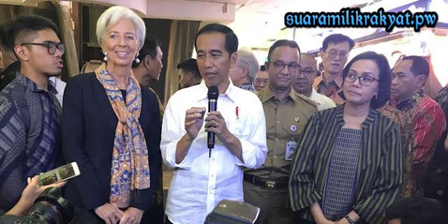 Jokowi dan Direktur IMF blusukan ke Tanah Abang