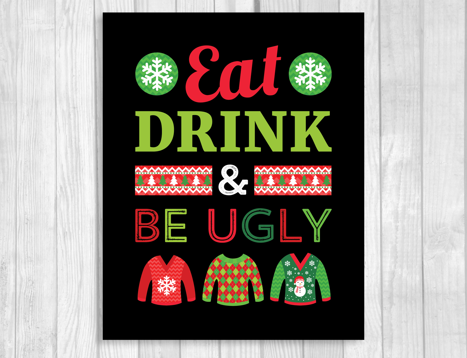Weddings By Susan Ugly Christmas Sweater Party Printable Invitation And Party Sign