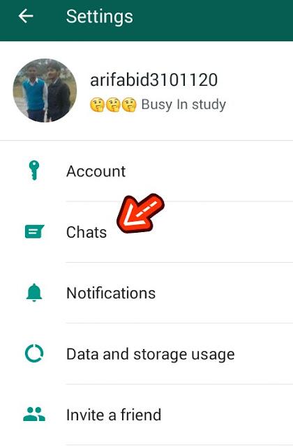 whatsapp chat setting
