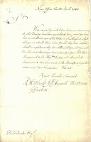 Letter from British Admiralty to David Dunbar, April 28, 1742