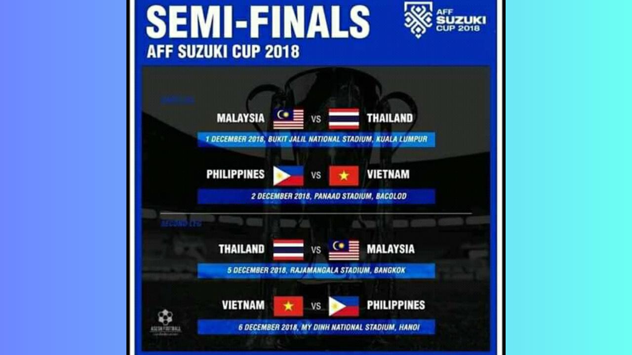 Jadwal Semi Final AFF Suzuki Cup 2018