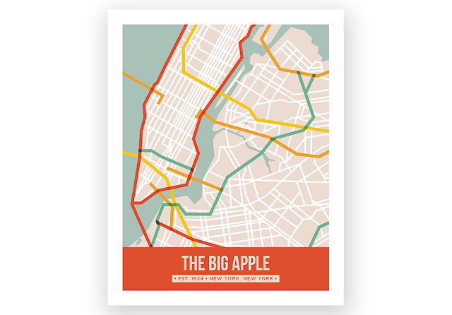Skimbaco Lifestyle curates this Big Apple print in its store.