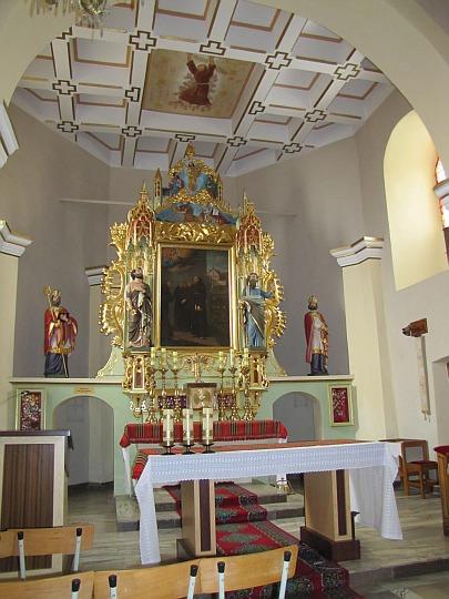 Ołtarz główny z obrazem bł. Szymona.