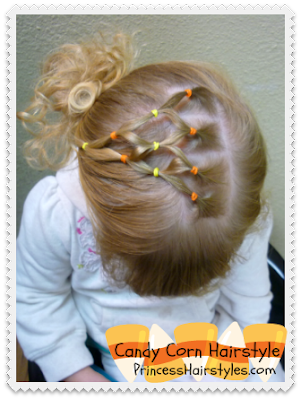 Candy Corn Elastic Hairstyle
