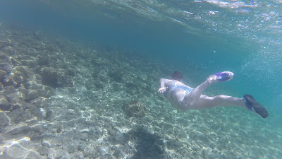 Underwater swimming photo