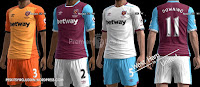 West Ham United kits 2016-2017 Pes 2013