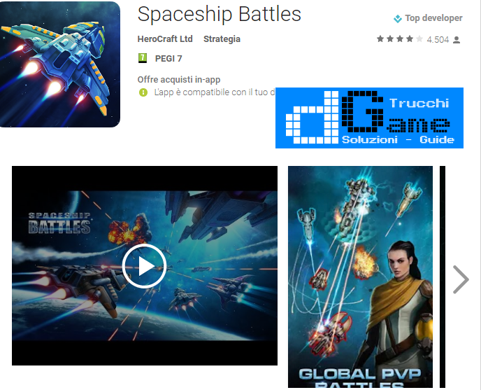Trucchi Spaceship Battles Mod Apk Android v1.2.2