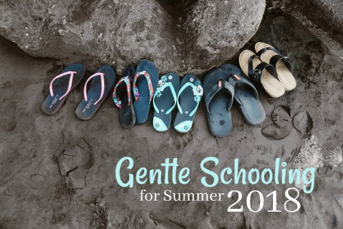 Gentle Schooling for Summer 2018 #homeschooling