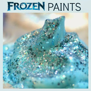 FROZEN ICE PAINT FOR KIDS:  these paints have the most glorious fluffy and icy texture!  A must-try! #paintrecipes #wintercraftsforkids