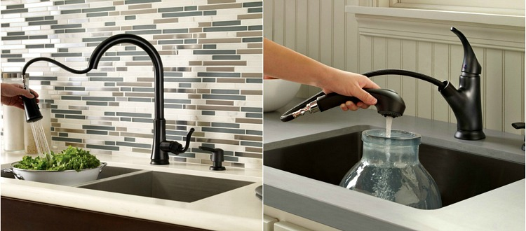 Black Kitchen Faucet Knives For Sale I Need Your Thoughts Or Silver Dans Le With The Accents In And Adjacent Rooms Found Two Pretty Practical Styles Cagney Pull Down Left Shelton