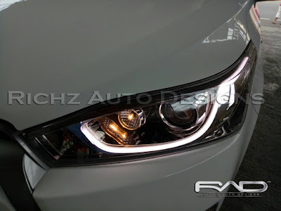 custom audiline headlamp yaris 2016