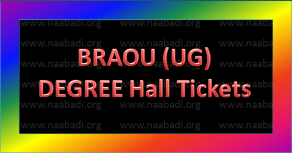 BRAOU UG(Degree) Hall Tickets for Spell-2 (2016)(www.naabadi.org)