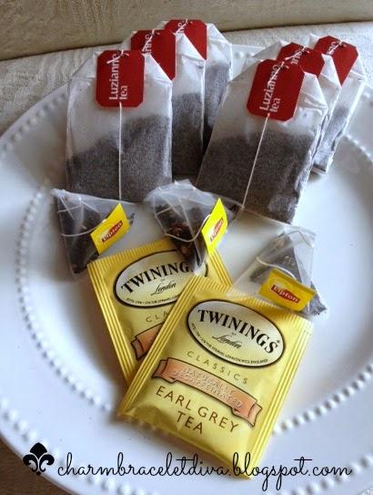 Liziane tea bags Twinings Earl Gray Lipton Bavarian Wild Berry tea bags
